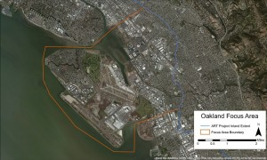 Map of the Oakland/Alameda Resilience Study project area.