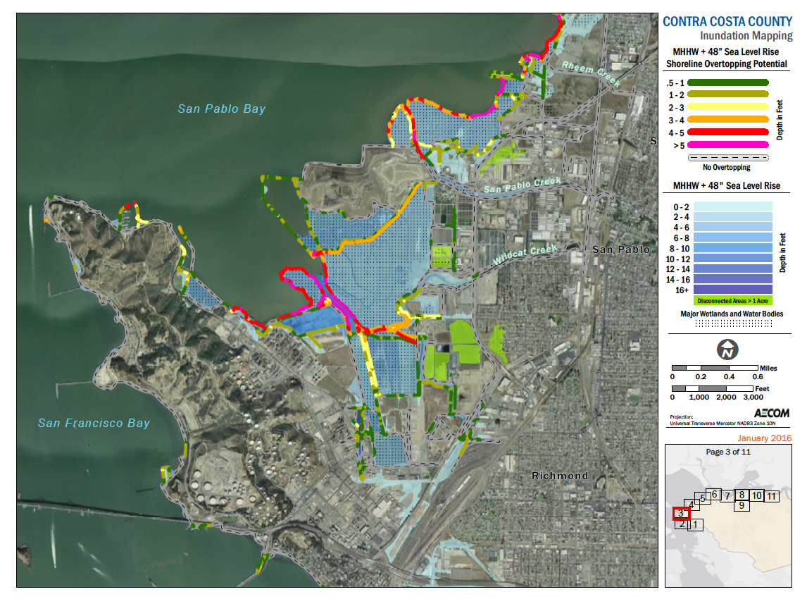 Bay Area Sea Level Rise Analysis And Mapping Adapting To Rising - Sea level rise maps